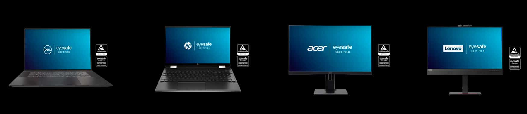 Eyesafe Certified Laptops Monitors Dell HP Acer Lenovo